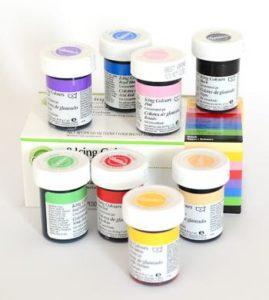 zestaw spożywczych barwników